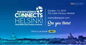 wappier at PGC Helsinki October 2019, events, mobile games, PGC, PGC Helsinki, Pocket Gamer Connects, wappier